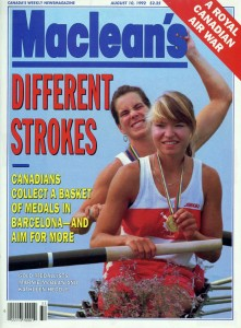 Macleans Cover of Marnie McBean and Kathleen Heddle