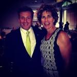 John Tory and Marnie McBean at a fundraiser