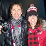 Steve Nash and Marnie McBean at OC of Vancouver 2010 Olympics
