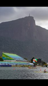 Lagoa Rodrigo de Freitas, this gorgeous photo of the Olympic Rowing Venue was on the USRowing twitter feed